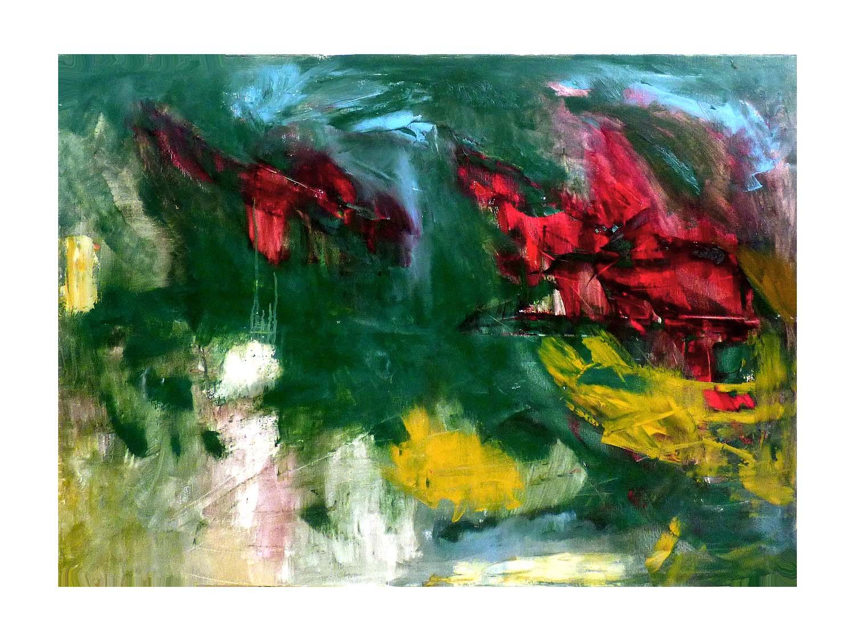 Cornelia Janecke  Meer 120x100 cm - Malerei Öl/Leinwand - 2018
