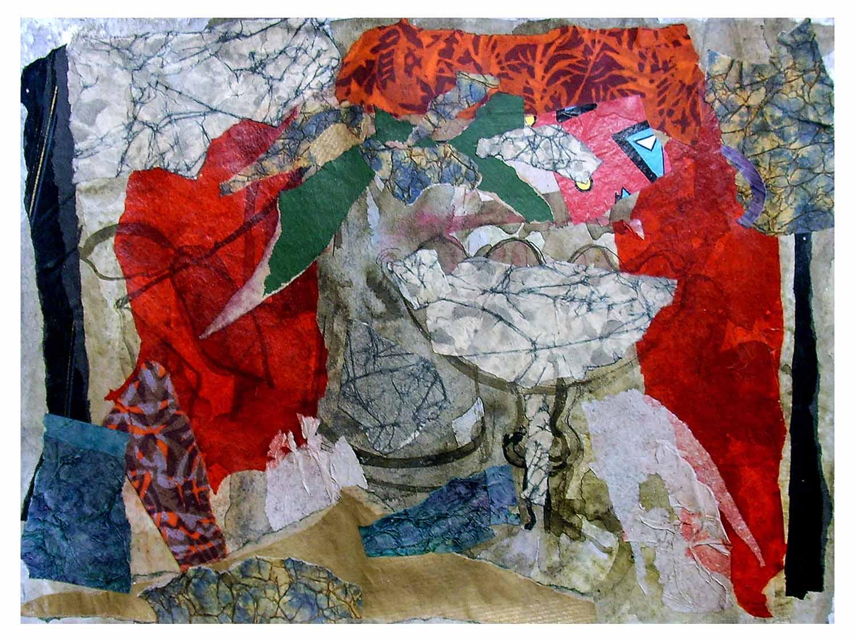 Cornelia Janecke Stilleben 38x28 cm – Collage – 2008
