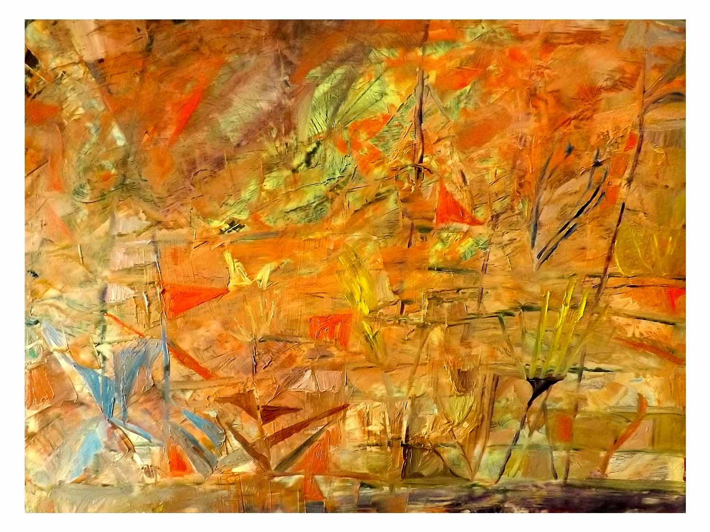 Cornelia Janecke  Wüstenland 50x40 cm - Malerei Öl/Leinwand - 2018