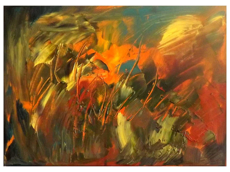 Cornelia Janecke  Sommerblumen 50x40 cm - Öl/Leinwand - 2018